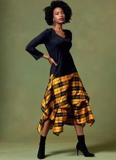 Vogue Patterns-V1639A-Misses Skirts White Various Paper