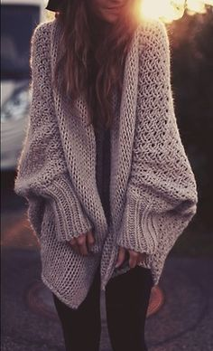 so cozy- sweaters and leggings.