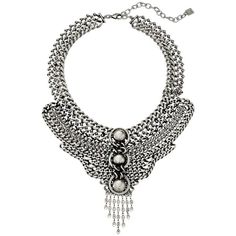 DANNIJO PALOMA Necklace ($570) ❤ liked on Polyvore featuring jewelry, necklaces, silver, pendants & necklaces, swarovski crystal necklace, adjustable chain necklace, swarovski crystal jewelry and oxidized jewelry