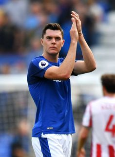 Everton defender Michael Keane put body on the line in Stoke City win Football Program, Football Cards, Football Players, Everton Fc, Stoke City, Premier League, Centre, Blues, Fans