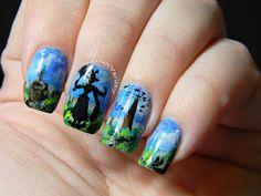 Mary Poppins Nail Art