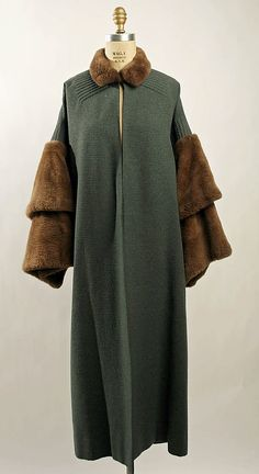 Coat Date: early 1930s Culture: French Medium: wool, nutria fur Dimensions: [no dimensions available] Accession Number: 1974.242.5a–c