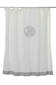 Lovely #LeontineLinens Love, This #monogram Shower Curtain! {can Also Purchase  Coordinating Towels