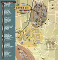 Woodinville Wine Country Warehouse Map 2015