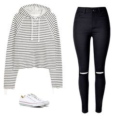 """""""Untitled #560"""" by danieledepaula ❤ liked on Polyvore featuring WithChic and Converse"""