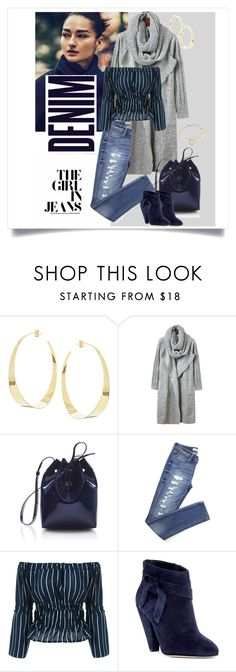 """""""Love my jeans."""" by style-stories ❤ liked on Polyvore featuring Lana, Mansur Gavriel, Alima, Nine West and Alexis Bittar"""