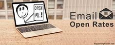 Email Open Rates banner with laptop