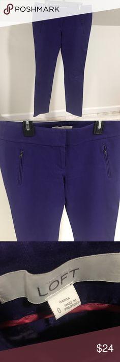 """Anne Taylor Loft Purple Pants Gorgeous purple pants from Anne Taylor Loft.  Great condition. 27"""" inseam.  No trades and no holds LOFT Pants Trousers"""