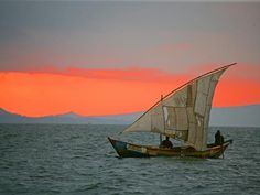 A local sailing boat on Lake Victoria - taken from Mfangano Island Camp