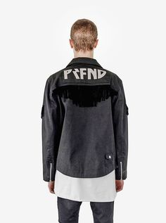 Profound Aesthetic Fringe Biker Jacket in Black. Flight Through the Gardens Collection Spring Summer 2016. http://profoundco.com