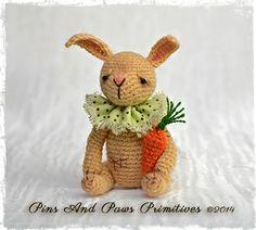 OOAK, Miniature, Thread Head Artist Bunny ~ Harvey