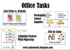 "Life Skills ""Office"" Task Ideas!"