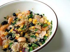 quinoa shrimp salad(chicken instead)