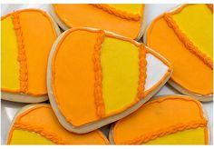 Candy Corn Shortbread Cookies