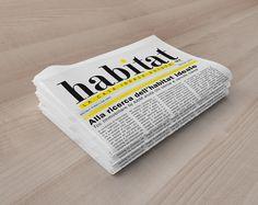 Per Axim Group Sa e TCC Immobiliare abbiamo ideato HABITAT per presentare in modo elegante e originale gli immobili nel corso della fiera Ticino Case Expo che si terrà a Lugano il 29-30-31 maggio 2015 #habitat #fiera #stand #immobiliare #portfolio #newspaper #black&yellow