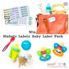 Win Mabel's Labels Baby Label Pack and Never Loose your Baby Stuff Again! #Baby #Labels #Giveaways #ad