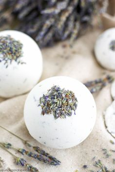 Lavender Bath Bomb Recipe - 1 cup baking soda 1/2 cup Citric Acid 1/2 cup cornstarch 3 tablespoons epsom salt 2 teaspoons Sweet Almond Oil 3/4 teaspoon water 15 drops Lavender Oil a few tablespoons of dried Organic Lavender Flowers