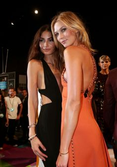 2015 MTV Video Music Awards: what they're wearing: Lily Aldridge and Karlie Kloss