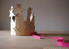 DIY Starry Cardboard Birthday Crown by Cardboard Collective