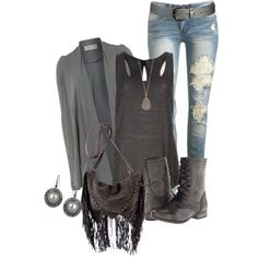 """""""Shades of Grays"""" by lisamoran on Polyvore"""