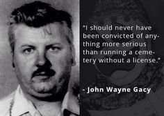 John Wayne Gacy was a serial killer who murdered at least 30 teenage boys and young men between 1972 and 1978 in the Chicago area. Click to read more. #truecrime Chill Quotes, John Wayne Gacy, Jeffrey Dahmer, Crime Books, Charles Manson, Creepy Pictures, Psychopath, Serial Killers, True Crime
