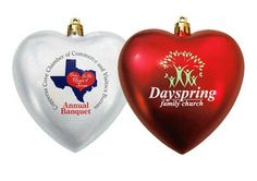 ORNT-H - Heart Shatterproof Ornaments