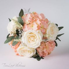 Wedding bouquets, Bridal bouquet, Silk wedding bouquet, Silk bridal bouquet, Hydrangea bouquet, Rose wedding bouquet, Rose wedding bouquet Silk Bridal Bouquet, Silk Wedding Bouquets, Bridesmaid Bouquet, Corsage And Boutonniere, Groom Boutonniere, Hydrangea Bouquet, Ivory Roses, Flower Aesthetic, Here Comes The Bride