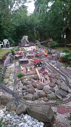 Garden Train, Lego Train Tracks, Clark Gardens, Model Railway Track Plans, Garden Railroad, Electric Train, Backyard Playground, Model Train Layouts, Outdoor Games