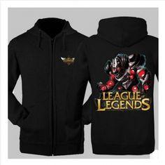 League of Legends fleece hoodie Volibear printed zip sweatshirt for men