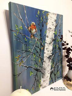 Cow Painting, Autumn Painting, Original Paintings, Original Art, Easy Canvas Art, Elements Of Art, Bird Art, Watercolor Art, Paintings Of Birds