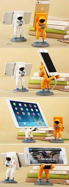 Astronaut Mobile Phone iPad Holder Stand