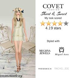 Short and Sweet @covetfashion  #covet #covetfashion #fashion #meghnajewels #MiguelAses #messeca #RachelZoe