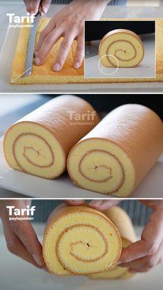 Merhaba Tarif Paylaşımları mutfağına hoşgeldiniz. Herkesi görüntüsüyle kendine hayran bırakan İsviçre rulo kek nasıl yapılır? Püf noktaları nelerdir hepsini bugün tarifimizde sizlere anlatıyor olacağız. Lafı çok uzatmadan hemen malzemelerime geçiyorum. #isviçrerulokek #rulokek #kektarifleri #mutfak #kadın East Dessert Recipes, Raw Food Recipes, Cake Recipes, Sweet Desserts, Delicious Desserts, Yummy Food, Subway Cookie Recipes, Jelly Roll Cake, Swiss Roll Cakes