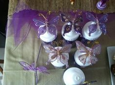 "Photo 10 of 16: Purple Butterflies / Baby Shower/Sip & See ""Purple Butterflies"" 