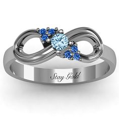 Solitaire Infinity Ring with Accents | Jewlr One for mom, one for me