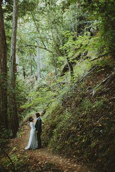 A Vintage Edwardian Crochet Dress For A Californian Wedding in the Woods // Big Sur