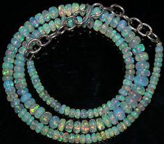 "44 Crts 1 Strands 3 to 6 mm 15"" Beads Ethiopian Welo Opal  AA+++43014"