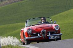 Alfa Romeo Giulia Spider veloce in der Toskana   Nostalgic Oldtimerreisen