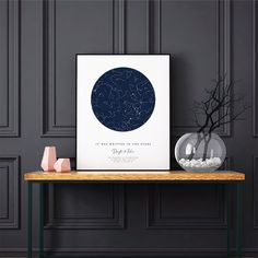Anniversary Print Custom Star Map by Date Printable Constellation Chart Night Sky Personalized – Scrapbooking İdeas For İdeas. Wedding Gifts For Couples, Personalized Wedding Gifts, Gift Wedding, Constellation Chart, Last Minute Gifts, Couple Gifts, Graduation Gifts, Night Skies, Boyfriend Gifts