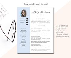 Letter Of Rec Template Cv Template Professional Resume Template For Word And Pages Cover .