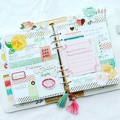 Last week in my new A5 Color Crush planner. Getting used to the bigger size, but…