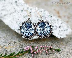 Delft blue ornament Retro look Jewelry, from MADEbyMADA