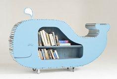 Cute whale bookshelf