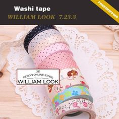 Aliexpress.com : Buy Min.order is $25 (mix order) colorful printing washi masking tape printing washi tape hot market lovely promotion gift MMA07233 from Reliable washi tape suppliers on William look Co.,Ltd(Min .order $25)
