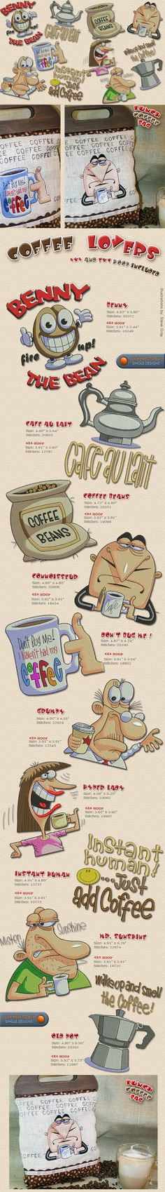 COFFEE LOVERS Embroidery Designs Free Embroidery Design Patterns Applique
