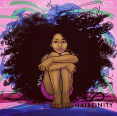 I want long natural hair and for it to be really curly and beautiful