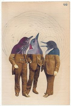 collage art This is a funny design. I love the matching suits as well as the similar dolphin heads. shows we are all really just he same no matter what we do or wear. Kindof ironic in a way Art Du Collage, Mixed Media Collage, Canvas Collage, Art Et Illustration, Illustrations, Character Illustration, Photomontage, Dadaism Art, Ddr Museum