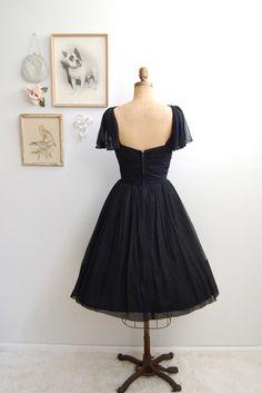 ON SALE  Vintage 1950s Black Cocktail Dress  50s by BohemianBisoux, $168.00