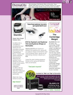 October offers Email Newsletter Design, Laser Clinics, Eyebrows, Salons, October, Youtube, Beauty, Eye Brows, Lounges