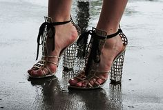 ysl-caged-silver-shoe-seaofshoesjane by ...love Maegan, via Flickr